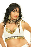 Belly dancer with snake Stock Photography