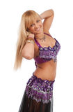 Belly dancer in studio Royalty Free Stock Photo