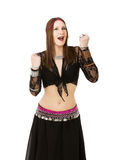 Belly dancer success Royalty Free Stock Image