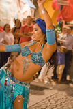 Belly dancer with sword Royalty Free Stock Photo