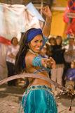 Belly dancer with sword Stock Images