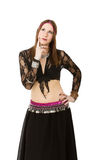 Belly dancer thinks Stock Photography