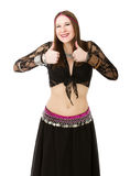 Belly dancer thumbs up Stock Photography