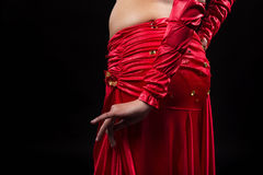 Belly Dancer. Torso of a female belly dancer,  Isolated on black Stock Images