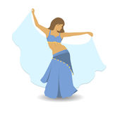 Belly dancer in traditional dress. royalty free illustration