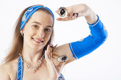 Belly dancer woman Royalty Free Stock Photo