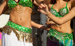 Belly dancers detail Royalty Free Stock Photography