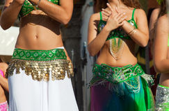 Belly dancers detail Stock Images