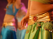 Belly Dancing. Performance , middle eastern dance Royalty Free Stock Photos