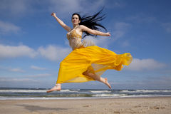 Belly Dancing on the Beach Royalty Free Stock Photos