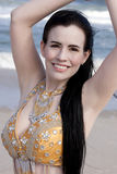 Belly Dancing on the Beach Royalty Free Stock Photo