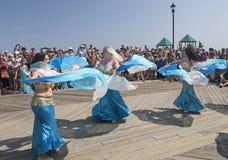 Belly Dancing at Mermaid Parade Stock Photography