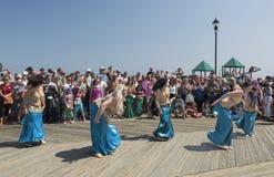 Belly Dancing at Mermaid Parade Royalty Free Stock Photos