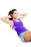 Belly exercises Royalty Free Stock Photo