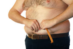 Belly fatness stock photos