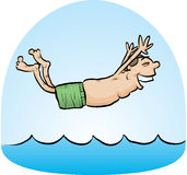 Belly Flop Man Royalty Free Stock Photo
