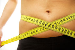 Belly measurements Stock Image