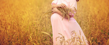 Free Belly Of A Pregnant Woman Stock Photography - 68442532