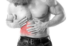 Belly pain stock photography