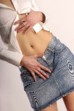 Belly with piercing Royalty Free Stock Photography