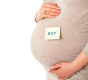 A belly of pregnant woman Stock Photo
