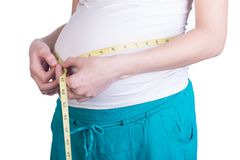 Belly pregnant woman Stock Photography