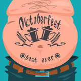 Belly Tattoo Oktoberfest Festival Banner Royalty Free Stock Images