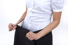 belly weight loss Royalty Free Stock Photography