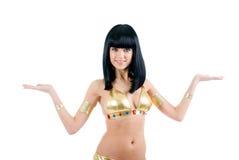 bellydance Egypt stylowy kobiety kolor żółty fotografia stock