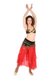 Bellydance with hands up royalty free stock photos