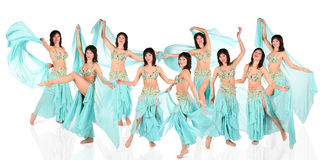 Bellydance harem collage Royalty Free Stock Photos