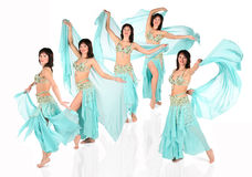 Bellydance harem collage Royalty Free Stock Images