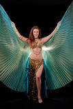 Bellydance queen with Isis wings Stock Images