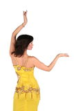 Bellydance woman in yellow egypt style Stock Image