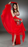 Bellydancer in action Royalty Free Stock Photography