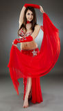Bellydancer in action Stock Photos