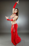Bellydancer in action Royalty Free Stock Photo
