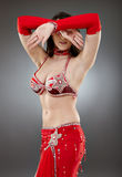Bellydancer in action Royalty Free Stock Images
