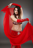 Bellydancer in action Royalty Free Stock Photos