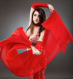 Bellydancer in action Stock Image
