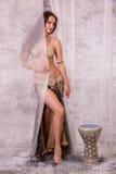 Bellydancer behind curtain Stock Photography
