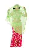 Bellydancer behind her veil Royalty Free Stock Image