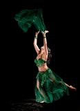 Bellydancer on a black background Royalty Free Stock Photography
