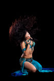 Bellydancer doing a Hair Toss Stock Images