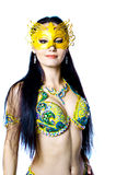 Bellydancer girl portrait stock images