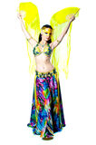 Bellydancer girl portrait stock image