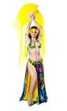 Bellydancer girl portrait royalty free stock images