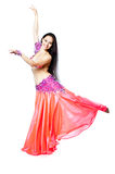Bellydancer girl portrait stock photo
