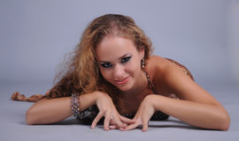 Bellydancer girl portrait Royalty Free Stock Image