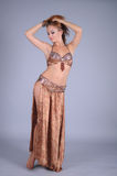 Bellydancer girl portrait Royalty Free Stock Photos
